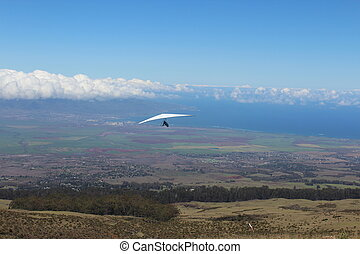 Hang Gliding Over Maui Hawaii