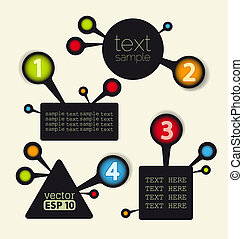 design template - vector design template with numbered...