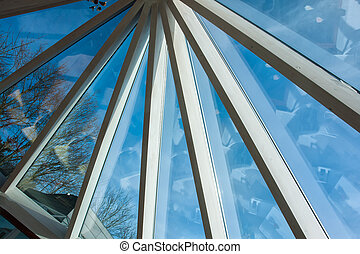 Glass roof of a conservatory - Details of glass roof of a...