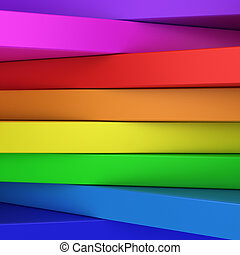 Rainbow panels - Abstract rainbow-coloured panels with...