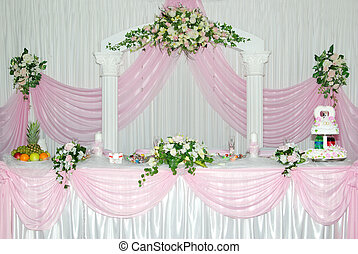 wedding stage - The beautifully designed wedding stage is in...