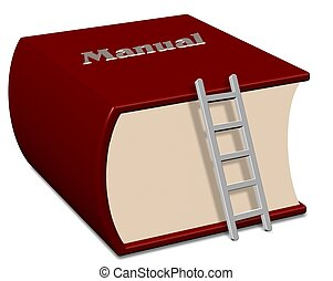 Manual book - Big red book with a title spelling manual