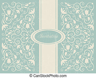 Ornate floral backgroung. Perfect as wedding invitation. EPS...