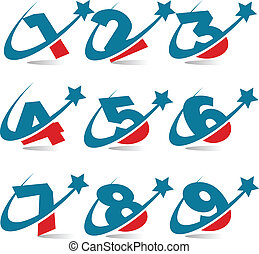 Swoosh Patriotic Numbers