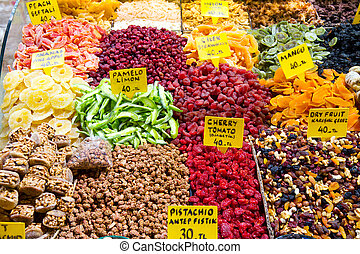 Dried Fruits from Spice Bazaar, Istanbul