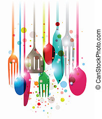 Have a nice meal - Colorful composition of kitchen...