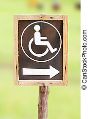 sign for invalid person entry - wood sign for invalid person...