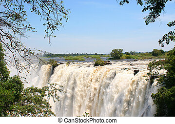 Victoria falls in Zimbabwe - A VIEW OF Victoria falls in...