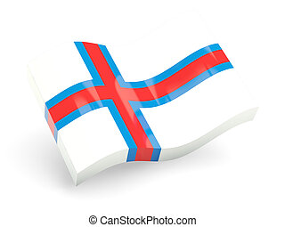 3d flag of faroe islands