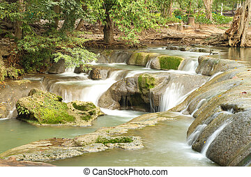 "waterfall named ""Muak Lek waterfall"", Thailand - waterfall..."