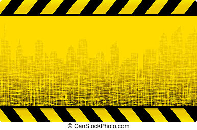 grunge construction background - yellow grunge construction...