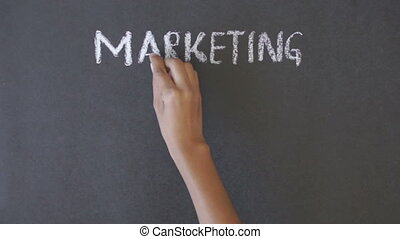 Marketing, Sales, Customers, Suppor - A person drawing a...