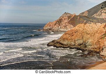 Rocky Coastline Half Moon Bay - Rocky cliffs and coastline...