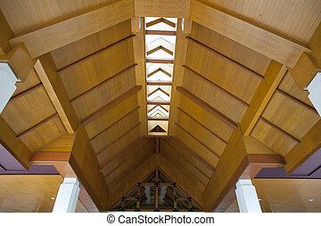 bois, plafond