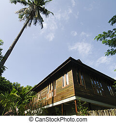 Wooden house asian style