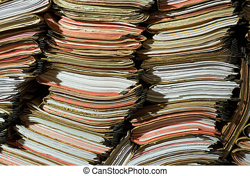 Stack of documents and papers