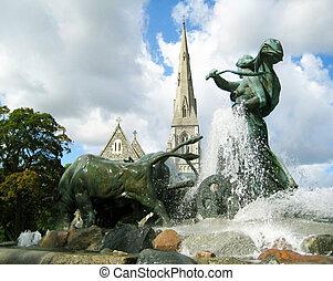 Gefion Fountain Copenhagen - Denmark