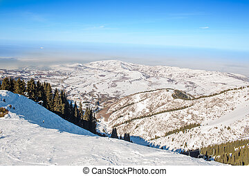 winter mountains in Ak Bulak, Almaty, Kazakhstan, Asia