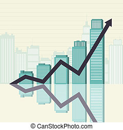 Business Success Towers Graphic