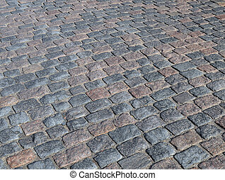 Cobbled road background