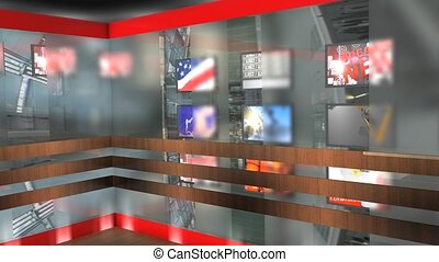 Virtual set 7 - Virtual broadcasting set.