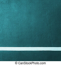 Paddle blue badminton court texture with white line can used...