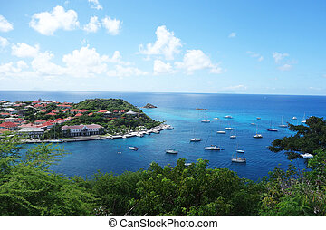 Gustavia Harbor, St. Barths, French West indies