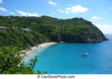 Areal view at Shell beach,St. Barth - Areal view at Shell...