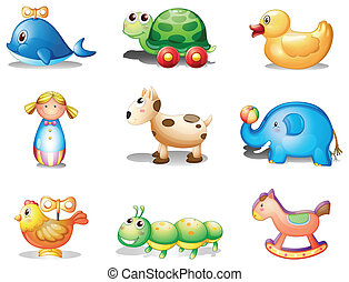 Different toys for kids - Illustration of the different toys...