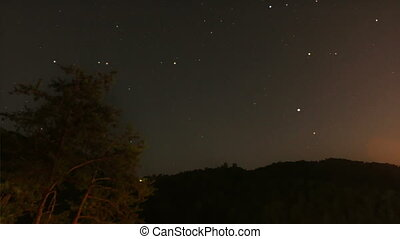 Stars Time Lapse 2 - Time lapse of stars passing behind a...