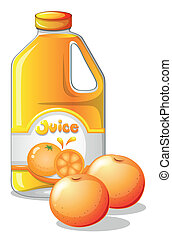 A gallon of orange juice - Illustration of a gallon of...