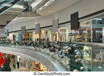 shopping mall interior - interior of a shopping mall on...