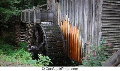 Traditional Watermill - Cable Mill watermill in Cades Cove...