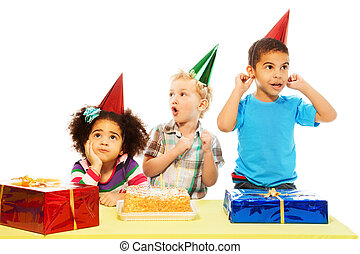 Group of kids and cake