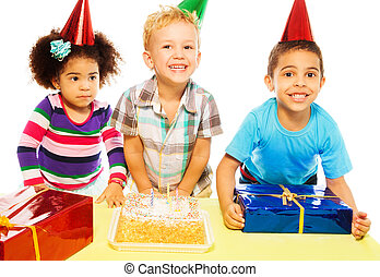 Eating cake and receiving presents