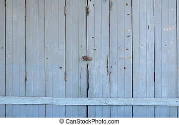 Old wooden door front view