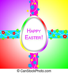 Happy Easter background with design elements