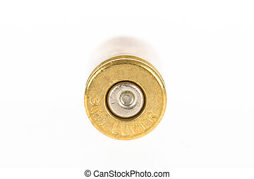 Empty shell casing against gradient