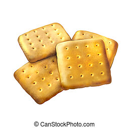 Sugar cookies. Square cookies. Isolated Illustration on...