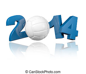 Volleyball 2014 design with a White Background