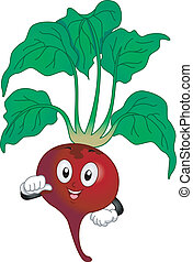 Red Beetroot Mascot - Illustration of a Red Beetroot Mascot...