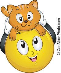 husdjuret,  smiley, katt