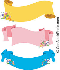 Colorful Floral Scrolls