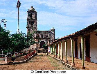 Old church in Kopala in Mexico - Ancient church in town...