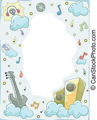 Music Elements Doodle Background 3