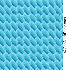 Blue seamless background with geometric waves