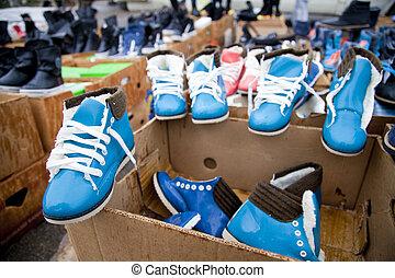 zapatos, Cajas