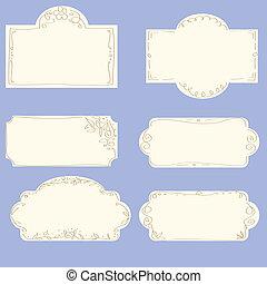set of doodle frames - vector set of doodle frames