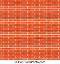 Red brick wall - An illustration of a brick wall as...