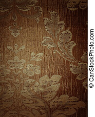 Floral pattern on fabric texture